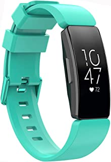 for Fitbit Inspire HR/Inspire Band Silicone Wristband, Women Men Adjustable Straps for Fitbit Inspire/Inspire HR Tracker (...