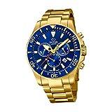 JAGUAR Reloj Modelo J864/2 de la colección Executive, Caja de 43,5 mm Azul con Correa de Acero Chapado para Caballero