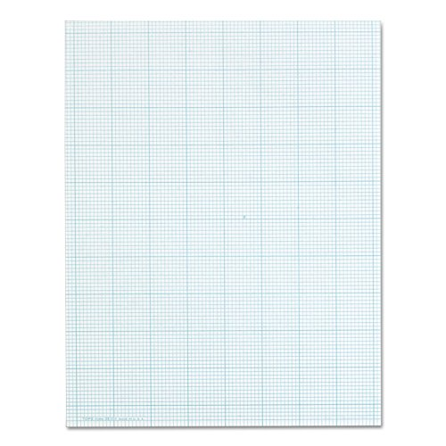 "TOPS Cross-Section Pads, 8-1/2"" x 11"", Glue Top, Graph Rule (10 x 10), 50 Sheets (35101)"