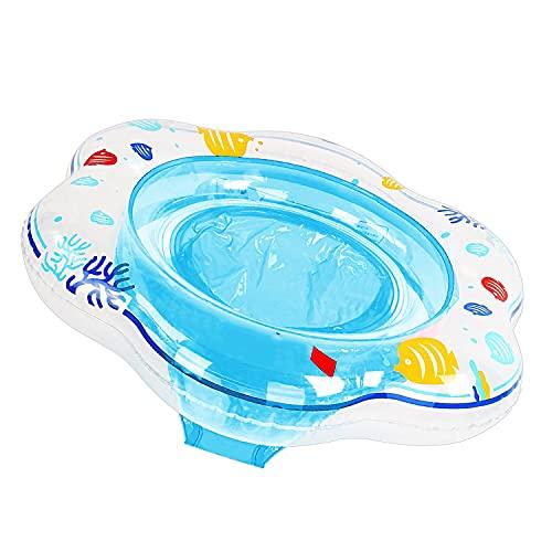 Baby Schwimmring Aufblasbare Schwimmhilfe mit Schwimmsitz aus PVC für Kleinkind ab 6 Monate bis 3 Jahr Blau, Baby Schwimmring Pool Schwimmen Float für Kinder Planschbecken (Pflege Unter Erwachsene)