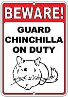注意してください! 義務のおかしい引用アルミニウムメタル看板にチンチラをガードします。