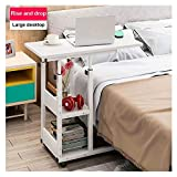 Mijaution Overbed Table - Adjustable Height Movable Bedside Table...