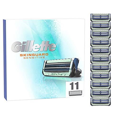 Gillette SkinGuard Sensitive Rasierklingen, 11 Ersatzklingen für Nassrasierer Herren mit Hautschutz