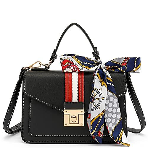 Scarleton Small Top Handle Satchel Handbag for Women, Purses for Women, Tote bag, H206501S, Black