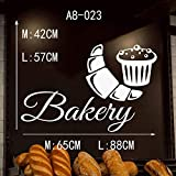 TYLPK Gebäck-Bäckerei-Brot-Gebäck-Kuchen-Keks-Nahrungsmittelwand-Abziehbild-Fenster-Aufkleber handgemacht