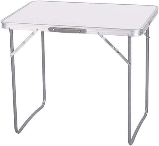 NJLC La Table Pliante, Table De DéCrochage ExtéRieure Table De Pliage DéContractéE Accueil Table De Pliage Rectangulaire,blanc,A