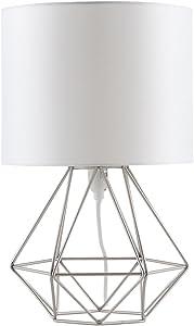 MiniSun - Moderna lámpara de mesa Angus, con innovadora base de estilo jaula