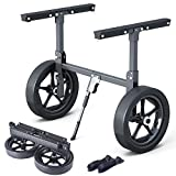 XGeek Kayak Carrier Trolley Cart Foldable, Capacity 350 Pound Portable Aluminum Alloy Kayak Cart Transporting Kayaks, Canoes, Paddle Boards and Jon Boats at The Lake, Beach or Reservoir