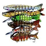 MKNZOME 6 Piezas 6/7/8 segmentos Conjuntos de Pesca de articulaciones múltiples Lucio Señuelos de Pesca Pesca en el mar Zeck Aparejos de Pesca