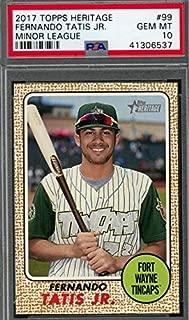 2017 Topps Heritage Minors - Fernando Tatis Jr - San Diego Padres Prospect Baseball Rookie Card - Graded PSA 10 GEM MINT RC #99