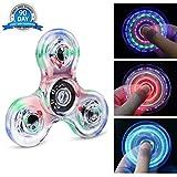 Fidget Hand Spinner Quimat Éclairage LED Jouet de Dextérité 216 Modes...