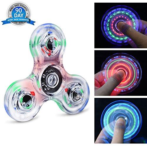 Quimat Fidget Spinner Hand Spinner LED Juguetes de Dedos Que