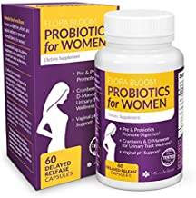 Probiotics for Women - Ultimate Flora Bloom Probiotic Supplement for Women - Healthy Vaginal Odor Probiotic - Formula for pH Balance, UTI, BV & GBS Relief - 30 Day Supply (60 Capsules)