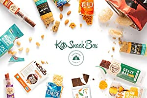 Keto Snack Box (20 Count) - Ultra Low Carb Snacks, Ketogenic Friendly, Gluten Free, Low Sugar - Healthy Keto Gift Box Variety Pack - Protein Bars, Pork Rinds, Cheese Crisps, Nuts, Jerky #5