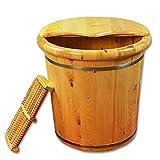 Foot Tub, Cypress Wood Foot Basin Tub Bucket For Foot Bath, Massage, Spa, Sauna, Soak,foot Bath Wooden Bucket Foot Spa Household Wash Basin…