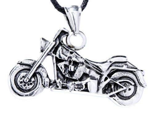 Kiss of Leather Motorrad Anhänger aus Edelstahl mit Panzerkette 45-65 cm (45)