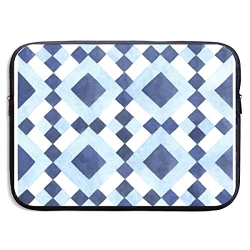 VEGAS Checkerboard Geometric Pattern Laptop Sleeve Case Bag Handbag for MacBook - Lightweight Carring Protector for 13 Inch Samsung Sony ASUS Acer Lenovo Dell HP Toshiba Chromebook Computers