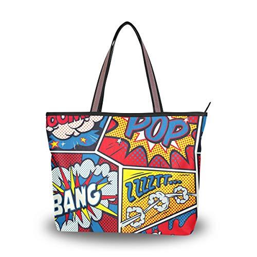 Bolsos de mujer Boom Pop Bang Splat Bolso de hombro de tela