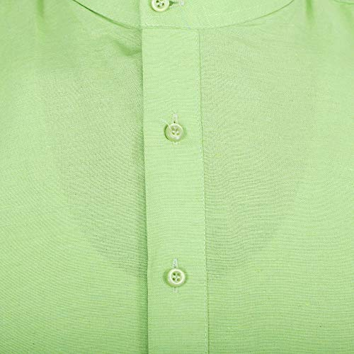 Himashu Handlooms Men's Cotton Long Kurta (Green_39)