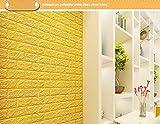 Cczxfcc Pegatinas En La Pared Diy 3D Brick Pe Foam Wallpaper Decoración Del Dormitorio Calcomanía De Piedra De La Decoración En Relieve 70 X 38 Cm