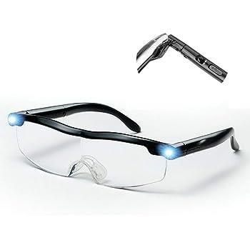 SUPVOX Occhiali ingrandenti con LED luce occhiali con lente di ingrandimento da lavoro