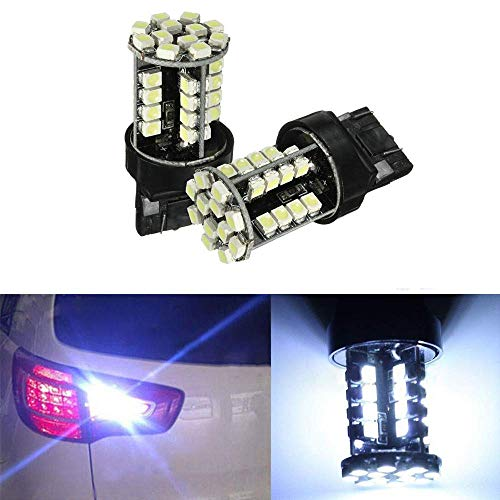 SUNWAN - Lampadine Canbus a LED 7443 T20, 12 V, 44 chip SMD 3528, W21/5W, per luce stop auto, 2 pz, luce bianca