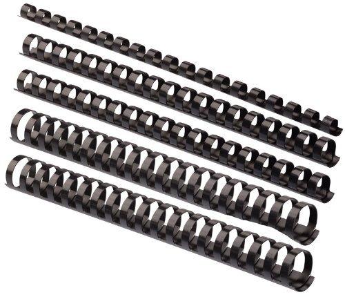 Plastik-Binderücken Sortiment 160-teilig (6-22 mm/max. ca. 190 Blatt), schwarz