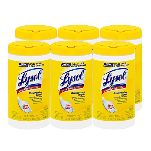 Lysol Disinfecting Wipes, Lemon and Lime Blossom Scent - 6 Pack - 80 ct. each