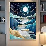 oioiu Kreative und schöne Winter Natur Poster Ölgemälde