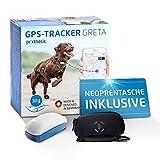 Prothelis Greta Hunde GPS Tracker Mini Peilsender mit App inklusive Neoprentasche | Tracking GPS für Hunde mit Akku Laufzeit bis 5 Tage 32g leicht wasserdicht | GPS Tracker Hund klein unauffällig