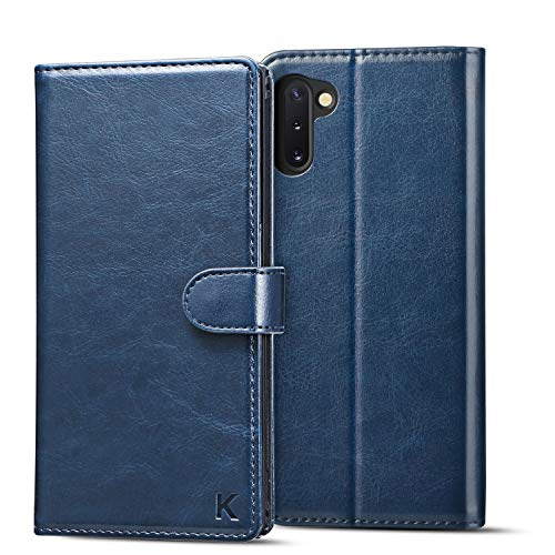 KILINO Galaxy Note 9 Wallet Case [S-Pen Fully Compatible] [RFID Blocking] [PU Leather] [Soft TPU] [Shock-Absorbent Bumper] [Card Slots] [Kickstand] Flip Folio Cover for Samsung Galaxy Note9 (Blue)