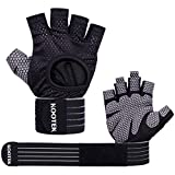 Kootek WorkoutGloves Weight Lifting Fitness Gloves with Wrist Wrap Support for Men and Women Full Palm Protection for Pull ups Weightlifting Training Powerlifting Fitness
