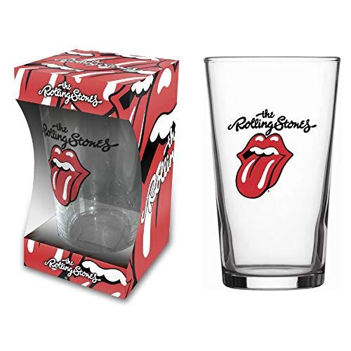 The Rolling Stones - Vaso de cerveza con logo de lengua