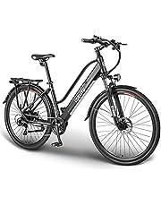 """ESKUTE Elektrische Fiets Wayfarer 28"""" Urban Ebike Trekking/Citybike met Uitneembare Lithium Batterij 36V 10Ah, 250W Achter Motor, Shimano 7 Versnellingen, Betrouwbare Metgezel voor het Dagelijkse Leven"""