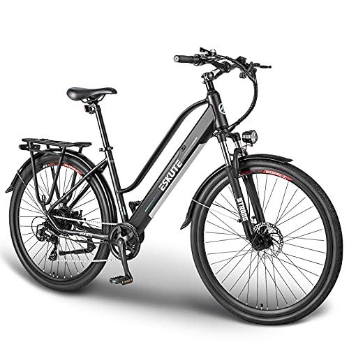 ESKUTE Bici Elettrica Wayfarer 28' E-Bike Citybike Olandese Padalata Assisitita per Adulto Unisex, Batteria Rimovibile al Litio 36V 10Ah, 250W Motore, Compagno Affidabile per Vita Quotidiana