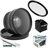Professional High Definition 58mm 0.43x Wide Angle Lens + 58mm UV Filter - For All Canon, Nikon, Sony, Panasonic, Olympus, Pentax ,Cameras