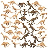 PPXMEEUDC 36 PCS Dinosaur Fossil Skeletons Dinosaur Skeleton Toys Assorted Figures Dino Bones for Dino Sand Dig Science Play Party Favor Decorations