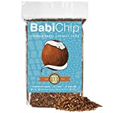 BabiChip Coconut Substrate for Reptiles 12 Quart Loose Small Sized Coconut Husk Chip Reptile Bedding