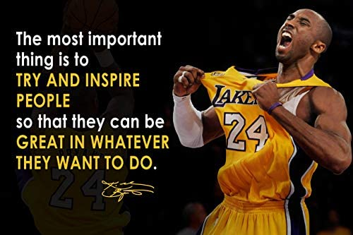 Kobe Bryant Poster Quote Black History Month Posters Los Angeles Lakers Quotes Basketball Sports product image