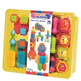 Bristle Blocks by Battat – The Official Bristle Blocks – 75 Pieces in a Storage Bin – Creativity Building Toys for Dexterity and Fine Motricity – BPA Free 2 years +