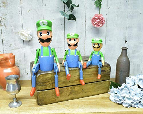Weird Or Wonderful Luigi - Estante de Madera para Marionetas (40 cm), diseño de Super Mario Nintendo
