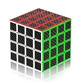 ROXENDA Cubo Mágico 4x4 Speed Cube 60mm (Fibra de Carbon)