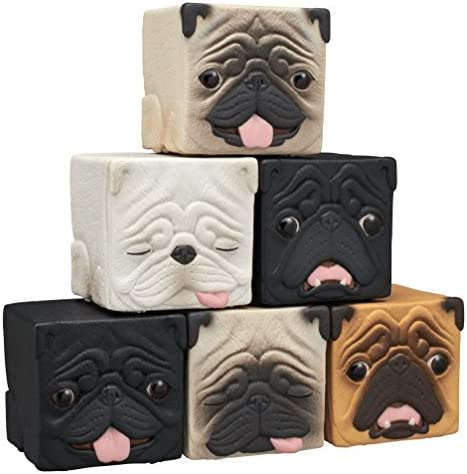 Kitan Club Hako Pug Cube Toy Blind Box Cube Dog Figurines Stackable Desk Ornament for Kids and product image
