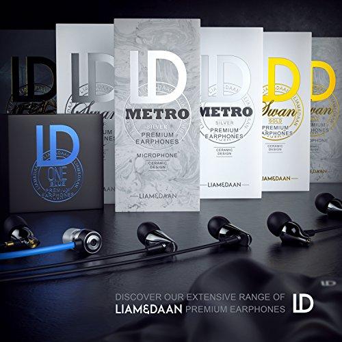 Liam & Daan In Ear Headset Kopfhörer mit Mikrofon - Keramik Ohrhörer fürs Smartphone Handy Tablet - LD Design