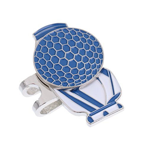 Clip de chapeau marqueur de boule d'alliage de Golf magnétique en forme de boule de golf accessoires de Golf Chaussures de sangle, bleu