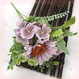 Flor Artificial 1 Manojo de Encantador Girasol Hortensia Artificial Flor de jardín Fiesta decoración de Boda DIY Silk Flower Decoración (Color : Purple)