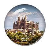 Imán de nevera 3D con diseño de la catedral de Palma de Mallorca