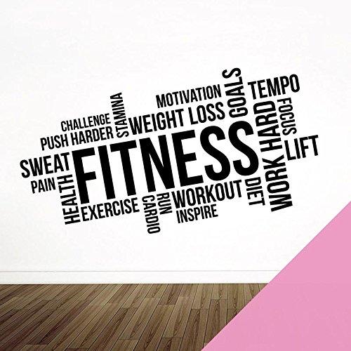Wandaufkleber für Fitnessstudio, Fitness, Training, Cardio, Fokus, Ziele XXXLarge (2000 x 1000mm) rose