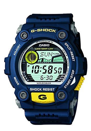 Casio Masculino XL Rescue Série G-Shock Quartz 200M WR Resistente a Choque Resina Cor: Azul (Modelo G-7900-2CR).