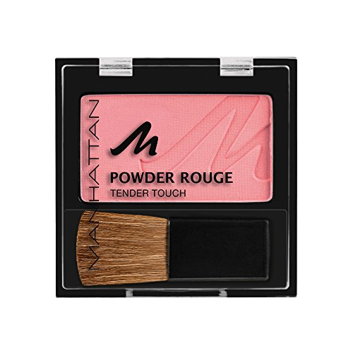 Manhattan Powder Rouge, Rosa Blush mit Puder Textur und beiliegendem Pinsel, Farbe Bubble Gum 35S, 1 x 5g